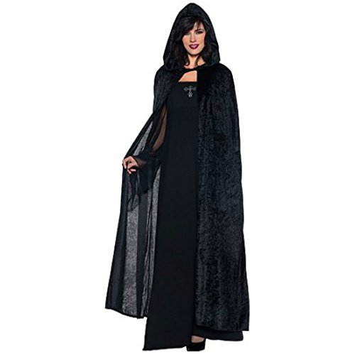[Black Hooded Cloak 55