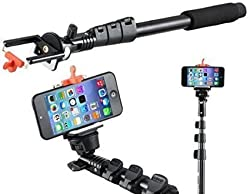ApeCases Selfie Stick YUNTENG YT 188 Self-portrait Monopod with Bluetooth Remote with Stick Clip