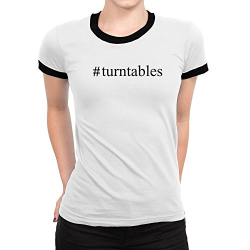Idakoos-Turntables-Hashtag-Instruments-Ringer-Women-T-Shirt