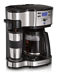 Hamilton Beach 49980Z Two Way Brewer Single Serve and 12-cup Coffee Maker, Stainless Steel from Hamilton Beach