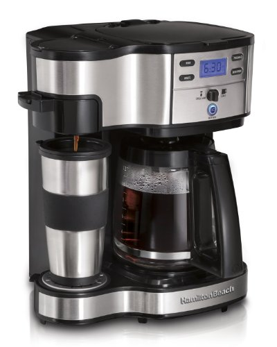Hamilton Beach 49980A Single Serve Coffee Brewer and Full Pot Coffee Maker, 2-Way