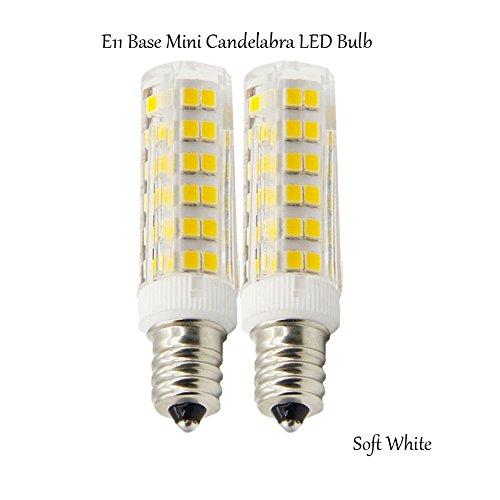 (Pack of 2) E11 Base 50W Light Bulb ,Dimmable LED Mini Candelabra Bulb,Daylight,JD T4 bulb,120 volt,550LM,Clear (Candelabra Daylight Bulb compare prices)