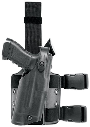 Safariland 6304 ALS Tactical Leg Holster, Black, STX, 1911 Style with Rails by Safariland
