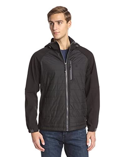 IZOD Men's Ripstop Jacket with Soft Shell Sleeves