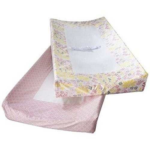 Room 365 Unisex Mandala Baby Girl 2 Pack Changing Pad Cover Pink