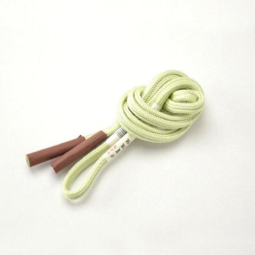 ノーブランド品 帯締め 70020日本製 正絹帯〆 伊賀組紐 ゆるぎ組 冠組み 単色 3 薄緑