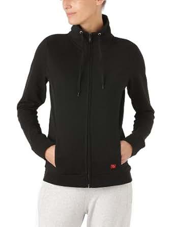 Dorotennis - Veste Sportswear Zippée à Capuche - Uni - Molleton - Femme - Noir - XL
