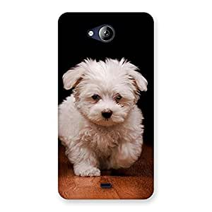 Special Cute Walking Dog Back Case Cover for Canvas Play Q355