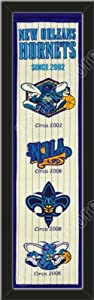 Heritage Banner Of New Orleans Hornets-Framed Awesome & Beautiful-Must For A... by Art and More, Davenport, IA