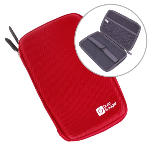 "DURAGADGET Rigid ""Tough"" Red Protective Shell Zip Case With Soft Felt Interior For Polaroid PMID1000B 10-inch Android 4.0 8GB Wireless Internet Tablet with Multi-Touch Colour Display, Sony Xperia Tablet Z & Lenovo S6000 at Electronic-Readers.com"