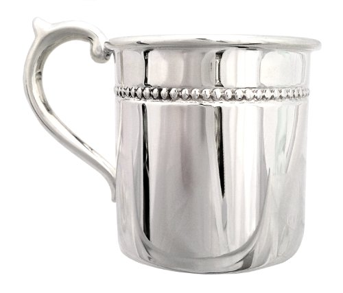 """Cunill 3.5-Ounce """"Pearls"""" Baby Cup, 2.12-Inch, Sterling Silver - 1"""
