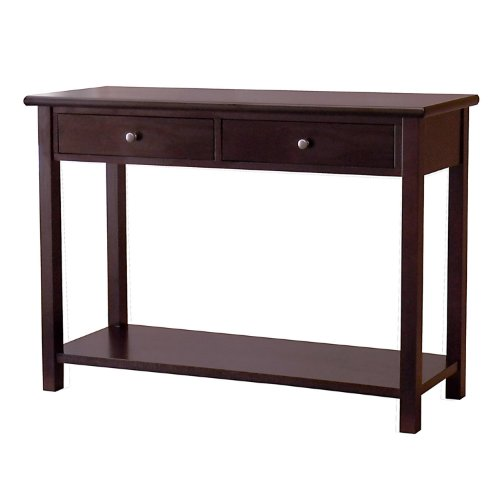 Cheap DonnieAnn Austin Dark Birch Console Table with 2 Drawers (B004FPRF68)