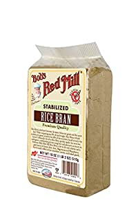 Bob's Red Mill All Natural Stabilized Rice Bran, 18-Ounce Bags (Pack of 4)