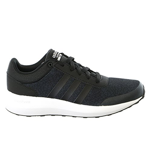 Adidas NEO Women's Cloudfoam Race W Running Shoe, Black/Black/White, 8 M US