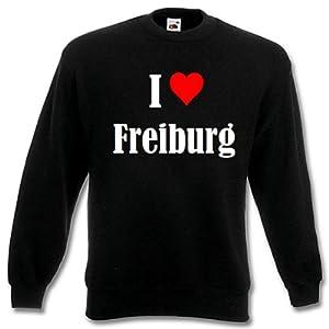"""Kinder Sweatshirt """"I Love Freiburg"""" versch. Farben 104 - 116 - 128 - 140 - 152 - 164"""