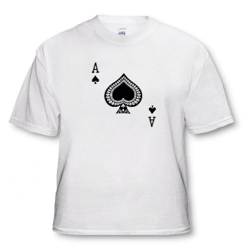 Ace of Spades playing card - Black spade suit