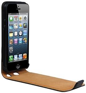 mumbi PREMIUM ECHT Leder Flip Case iPhone 5 Tasche Hülle