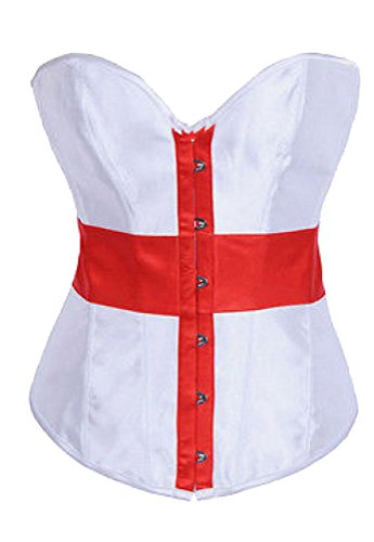 HKJIEVSHOP Women's Cross Nurse Corset Tops Cosplay Night Club Costume Outfit