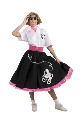 Rubie's Costume Grand Heritage Collection Deluxe Black 50's Poodle Skirt Costume