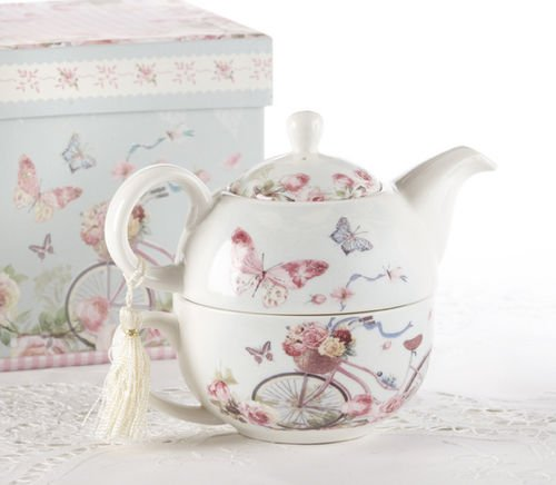 Fantastic Deal! Porcelain Tea for One in Gift Box, Cycle
