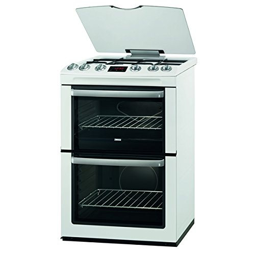 Zanussi ZCG664GWC 600mm Double Gas Cooker FSD Hob Lid White