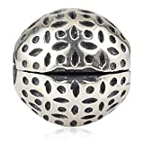 Art Nouveau Lace Clip Authentic 925 Sterling Silver Bead Fits Pandora Chamilia Biagi Troll Charms Europen Style Bracelets