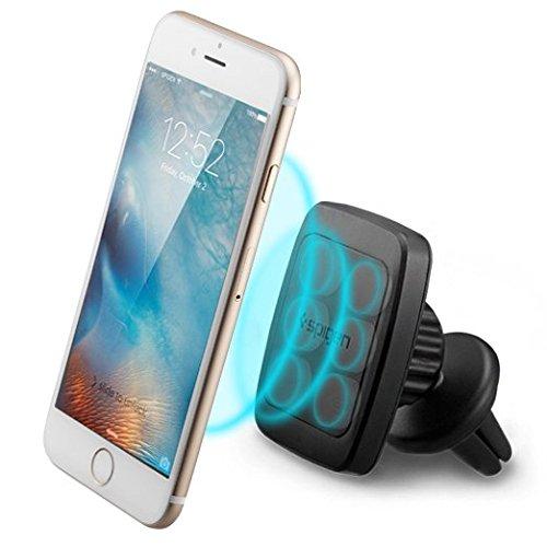 Supporto Auto Smartphone, Spigen® 360° [Premium Air Vent Magnetic, Hex Neodimio Core] Supporto Magnetico Auto Universale Supporto Auto per i grandi Cellulari - iPhone SE / 6S / 6 Plus, Samsung Galaxy S6 / S7 Edge / Edge / Note 4 / 5, LG G5 / G4 / G3, Huawei, Nexus 5x 6P Plus e more - A201 (000CD20115)