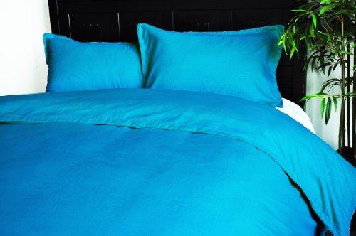 Natural Comfort Embossed Microfiber Duvet Cover And Pillow Sham Set, Blue, Twin