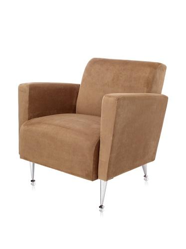 Adesso Memphis Velvet Club Chair, Olive Brown