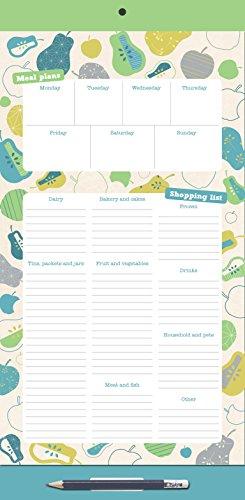 Organised Mum Magnetic Fridge List- Tabella magnetica per menu settimanale e lista della spesa [lingua inglese]