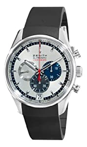 Zenith Men's 03.2041.4052/69.R580 El Primero Striking Tenth Chronograph Silver Dial Watch from Zenith