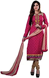 K.K BROTHERS Women's Cotton Dress Material (Pink)