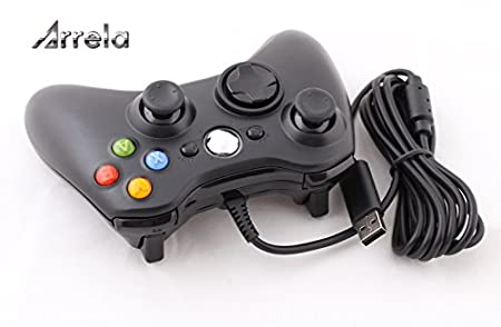 VMargera® Wired USB Controller for PC & Xbox 360 Black