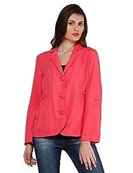 Oxolloxo Women Pink Linen Blazer