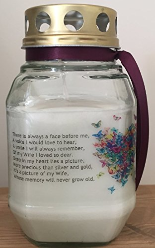 Memorial Candle - In Loving Memory Of My Wife - Remembrance Candle - Graveside