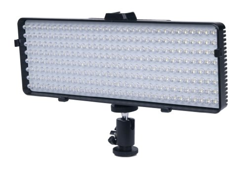 PLR 320 LED Dimmable, Vari-Temp Super Bright LED Light FFor The Canon Digital EOS Rebel SL1 (100D), T5i (700D), T5, T4i (650D), T3 (1100D), T3i (600D), T1i (500D), T2i (550D), XSI (450D), XS (1000D), XTI (400D), XT (350D), 1D C, 70D, 60D, 60Da, 50D, 40D, 30D, 20D, 10D, 5D, 1D X, 1D, 5D Mark 2, 5D Mark 3, 7D, 7D Mark 2, 6D Digital SLR Cameras image
