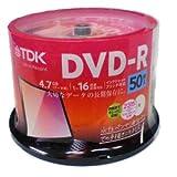 TDK DR47PWC50PUC | データ用 DVD-R 4.7GB 50枚 16倍速 ワイド プリンタブル ホワイト レーベル スピンドル