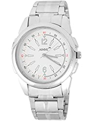 Addic Classy Round Heavy Silver Chain White Dial Analog Watch For Men