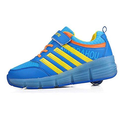 Highdas-Zapatos-unisex-LED-se-enciende-Entrenador-deportivo-zapatilla-de-deporte-de-rodillos-Heelys