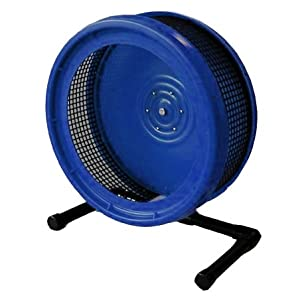 Pet Exercise Wheel, Pet Wheel for Sugar Gliders, Rats--Stealth Wheel; Blue with Stand