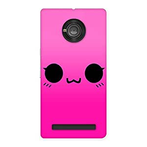 Delighted Pink Smile Face Back Case Cover for Yu Yunique