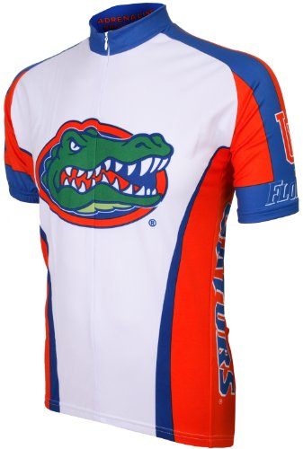 NCAA Florida Cycling Jersey, White/Multi, Small