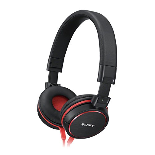 Sony MDRZX600R Monitor Kopfhörer (40mm) schwarz/rot