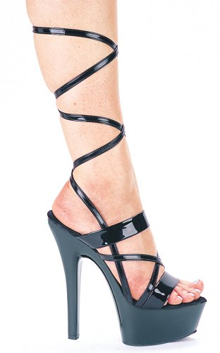 601-Alice Strappy Mid Calf Lace Up Sandal High Heel Shoes