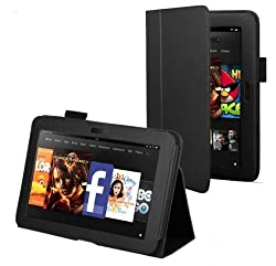 tedim® - Executive PU Leather Multi Function Standby Case for the New Kindle Fire HD 7