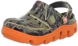 crocs 14077 Duet SPT RT Clog ,Chocolate/Orange,6 M US Toddler