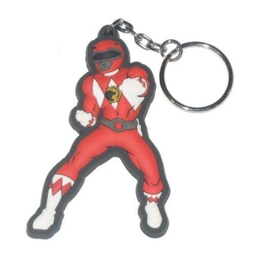 Mighty Morphin Power Rangers Rubber Red Ranger Portachiavi