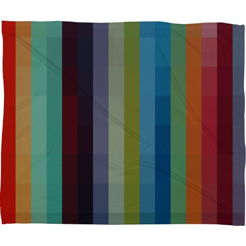 Deny Designs Madart City Colors Fleece Throw Blanket, 80-Inch By 60-Inch