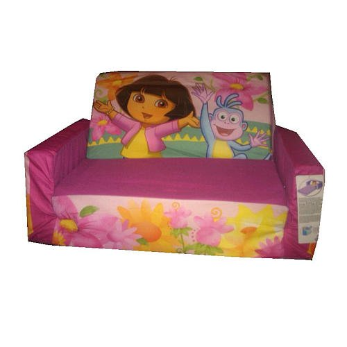 More image Dora Flip-Open Sofa with Slumber - Pink with Flowers