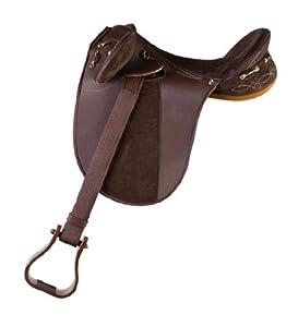 Down Under Saddle Supply Kimberley Synthetic Endurance Medium Saddle, Brown, 19-Inch
